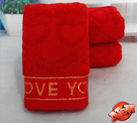 bath collections - Designer Red Wedding Luxury Collection Towel Set Top Quality Cotton Bath Hotel Beach Hand Towels for Adults marry gift