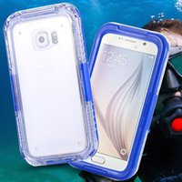 Wholesale 2016 Fullcover Waterproof Sealed Durable Case For Samsung Galaxy S7 edge Summer Beach Swimming Shockproof Phone Case