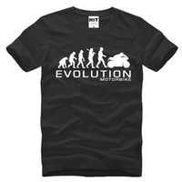 ape to man - 2016 New Creative Men s Fashion T shirt Printed MOTORBIKE MOTORCYCLE APE TO EVOLUTION Evolution Cotton Shorts