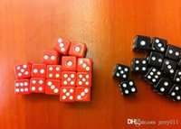 Wholesale 2016 NEW MM ABS Playing card Poker Chips dice for Gambling Dice Black red