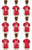 16-17 Mujeres top Tailandia de la calidad de Manchester Jersey de fútbol del rojo # 10 ROONEY # 9 IBRAHIMOVIC SHAW Degea MATA etc jerseys del fútbol