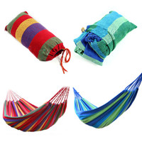 Wholesale High Quality Portable Outdoor Garden Hammock Hang BED Travel Camping Swing Canvas Stripe NVIE