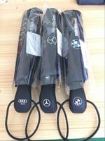 Wholesale pieces a New Arrival Car logo big umbrella Rain women fashion oversize black parasols men automatic business paraguas windproof