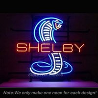 Wholesale Shelby Snake Neon Sign Decorate Real Glass Tube Cool Neon Bulbs Recreation Room Garage Indoor Frame Sign Store Display VD x14