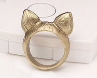 asia indonesia - Asia and Indonesia style fox ring Simple retro cartoon lady trendsetter ring Lovers Ring Jewelry special style