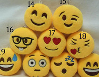 Wholesale QQ Key Chains cm Emoji Smiley Small Keychain Emotion Yellow QQ Expression Stuffed Plush Doll Toy for Mobile Pendant design