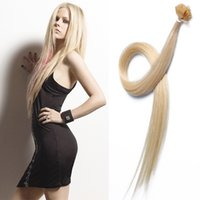 """Cheap 7A Brazilian Hair extensions 14""""-26""""IN STOCK color #613 light blonde 100g pack keratin Pre bonded Flat Tip Hair Extensions"""