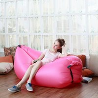 Wholesale Multi color Inflatable Air Sleep Portable Nylon PVC Furniture Couch Lounger lying Bed for Outdoor Camping Leisure Beach chair