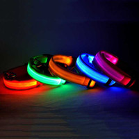 basics materials - Fashionable LED Collars Pet Products Electric Lighting Dog Collar Leash Fancy Nylon Material Waterproof cm Width