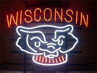 badger shop - NEON SIGN WISCONSIN BADGERS Custom Store Display Beer Bar Pub Club Lights Signs Shop Decorate Real Glass Tube Bulbs