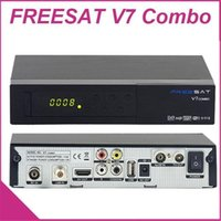 Wholesale Freesat V7 Combo Satellite TV Receivers DVB S2 DVB T2 Support PowerVu Biss Key CCcam Newcam Youtube Youporn p HD Set top box