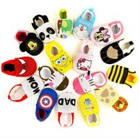 Wholesale New Arrive Lovely Minions Newborn Baby Boys Girls Shoes First Walkers Cotton Toddler Shoes Baby Shoes Branded