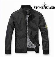 Wholesale fast shipping new stone autumn mens jacket bomber jacket and island coat stone blue Collar jacket PL001