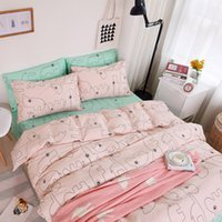 Wholesale 2016 autumn and winter models of cotton simple Korean fashion bedding sheet