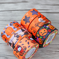 Wholesale 2 cm cm Adhesive Tapes silk tapes pumpkin ghost wizard star Monster patterns to sell