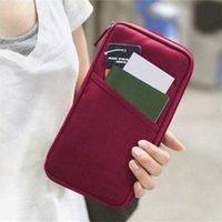Wholesale Hot Sales Business Card Holder Women Travel Passport Holder Canvas Passport Cover ID Credit Card Holder Men Passport Wallet sacs