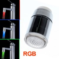 Wholesale Glow Temperature Sensor LED Water Stream Faucet Tap Color Freeshipping Dropshipping