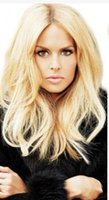 Wholesale Chinese Clip In Virgin Human Hair Curly Hair Extension One Piece Hot High Quality One Color Blonde