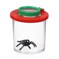 achat en gros de lentilles enfants-Bug Box Magnifier Insectes Viewer 2 Objectif 4x Grossissement Magnifier Childs Toy Enfants entomologistes # 4057