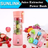 battery powered blender - 380ML Portable Electric Fruit Juicer Vegetable Citrus Blender Juice Extractor Ice Crusher mAh Power Bank Battery Supply Multi function