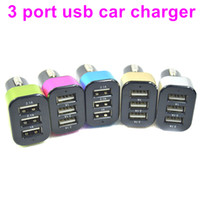 Wholesale Universal USB Ports A A A Car Charger Adapter for Iphone S S Colors