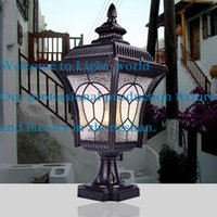 E27 aluminum door glass - Ilenbule fashion column lighting outdoor lamp outdoor the door wall light lighting dz02
