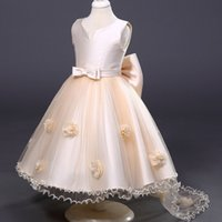 accessories wear wedding - Weddings Events Kids Formal Wear Accessories Flower Girls Dresses princess high quality Lolita Style Bow Ball Gown pageant dress