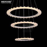 abs gear ring - Novel LED Chandelier Lighting Acrylic LED Ring Lamp Circle Wheel Gear Shape Lustre Suspension lamparas de techo Light