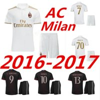 best black berry - 2016 best quality AC Milan a full sleeve shirts black berry KAKA home BONAVENTURA Honda AC Milan soccer jerseys AAA