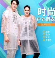 Wholesale Men and women outdoor walking raincoats adult Yupi transparent waterproof thickening travel climbing raincoat portable non disposable