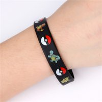 Wholesale Poke go Silicone Bracelets Pocket Monster Wristband Soft poke ball Wrist band Straps FNAF Figures Kids Toys christmas cosplay Gift