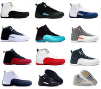 Wholesale 2016 air retro s XII Basketball shoes man ovo white TAXI Flu Game GS Barons Playoffs gym French blue Varsity red Sneakers