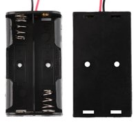 aa battery storage box - Battery Storage Case Plastic Box Holder with Cable Lead for x AA V Battery Soldering Connecting Black