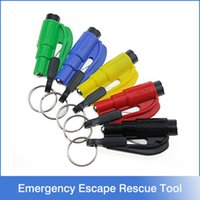 auto lifting - Mini in Seatbelt Cutter Emergency Glass Breaker Key Chain Tool Smart AUTO Emergency Safety Hammer Escape Lift Save Tool SOS Whistle