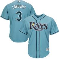 Wholesale MLB Tampa Bay Rays Evan Longoria Men s Game Cool Base Player Jersey Baseball Jerseys