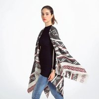 Wholesale New fashion women winter scarf cashmere feel big shawl with tassels Geometric print muffler top quality