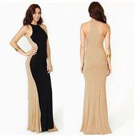 Wholesale street style elastic slim women dress panelled plus size grace fashion maxi dress summer hot sales
