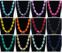 big rope chain necklace - Classic Big beads teething necklacesTeether Silicone oblate pendant teething Baby necklace Mommy Jewelry Baby Chewlry Necklace colors