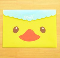 Wholesale Cute cartoon a4 file bag candy pp file folder File Bag Storage Bag For School cm