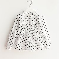Wholesale Girl Blouse Dot Spring New Baby Girl Blouse Long Sleeve School Girl Blouse Casual Children Clothing