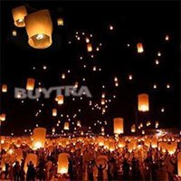 Cheap Paper Chinese Lanterns Fire Fly Candle Lamp for Birthday Wish Wedding Decor DIY Balloon UFO Sky Lantern Flying Wish Lantern