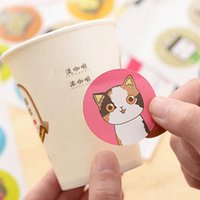 Wholesale 180pcs pack Labels Stickers Scrapbook Masking Sticky Illust Sticker Sealing Paste Decal sheet Scrapbook Masking labels Stationery
