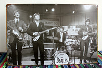 Wholesale 50pcs Metal Sign shabby chic Hand Made High Quality Calssic band Beatles Vintage Enameled Metal Wall Sign tin sign Plaque C