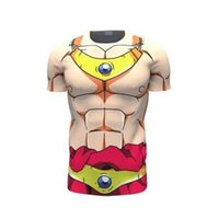ball compression - 2016 New Anime New Dragon Ball t Shirt Men Armor d T shirt Printed Compression Shirt Tops Fitness Tight Sports Tee Shirt Homme JTOP
