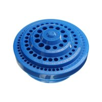 Wholesale Multifunctional Blue Plastic Round Shape Drill Bit Storage Box