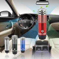 Wholesale 100pcs V Mini Auto Car Fresh Air Purifier Oxygen Bar Ionizer Colors