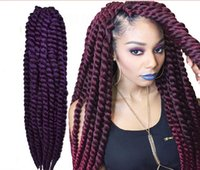 Wholesale havana mambo twist extra full volume crochet braid braids quot to quot kanekalon hair black blue red purple blonde for