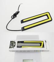 auto strip lights - Waterproof cob U Shape V W LED Car Daytime Running Light drl cob Strip auto day time running lights