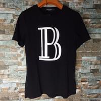Wholesale 2016 Men s women s Balmain Cotton T Shirt with Eagle Printed B XS S M L XL XXL