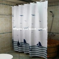 Wholesale DHL printed curtains shower curtains cm polyester waterproof thickening bathroom holtel shower curtains household
